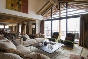 chalet with luxury living area in verbier
