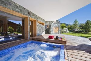 luxury chalet with pool