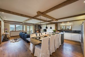 Chalet Apartment Saana Living and Dining