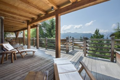 Apartment Chalet Mont - Balcony with view