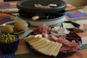 raclette swiss cuisine in verbier